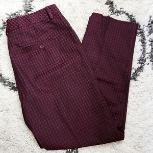 Zac & Rachel Maroon & Black Pants